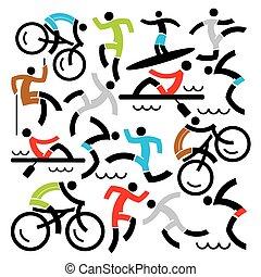 sport esterni, icone, fondo