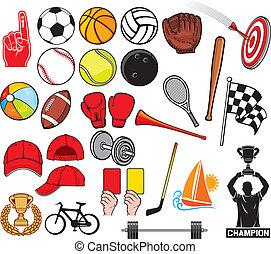 sport, grande, collezione