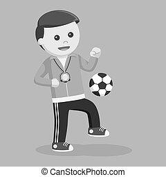 sport, insegnante, palla, manipolazione