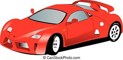 sport, macchina rossa