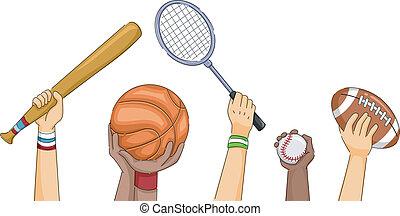 sport, mani