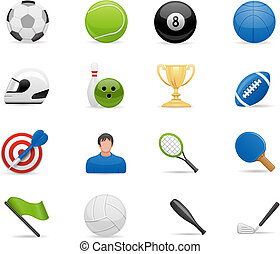 sport, set, icone