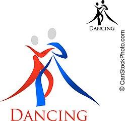 sport, silhouette, persone, emblema, ballo