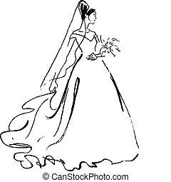 sposa, disegno