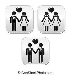 sposato, hetero, matrimonio, gaio