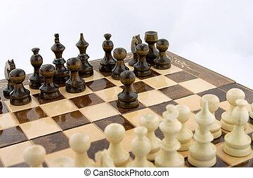 spostare, scacchi, primo