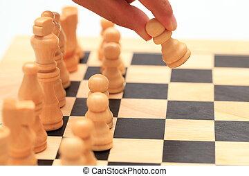 spostare, -, scacchi, primo