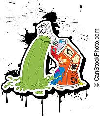 spray-belches, graffito, _