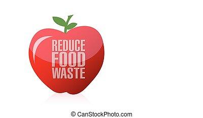 spreco, cibo, ridurre, mela