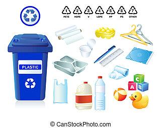 spreco, immondizia, plastica