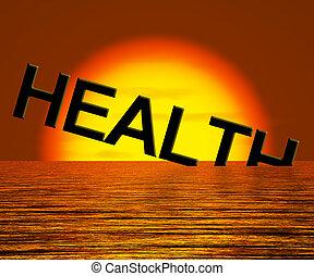 sprofondamento, parola, malsano, esposizione, salute, ammalato, o, condizione