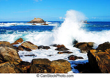 spruzzo, oceano