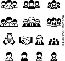 squadra, affari, icona