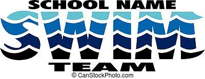 squadra, nuotare