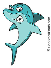 squalo, cartone animato