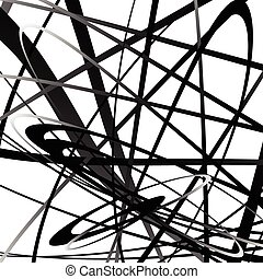 squiggly, geometrico, lines., monocromatico, curvy, astratto, squiggle, pattern.