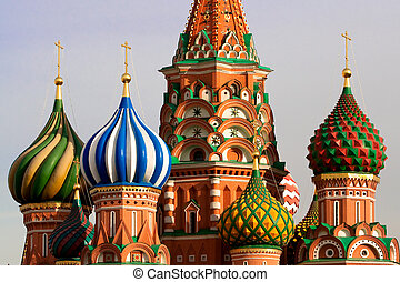 st., russia, mosca, basil's, cathedral.