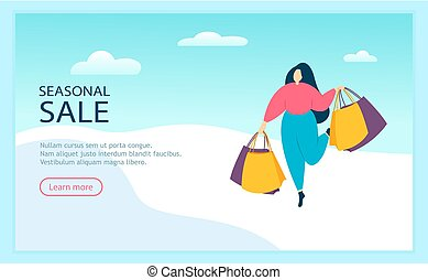 stagionale, camminare, shopping donna, borse, vendita