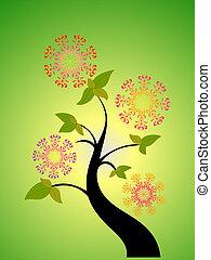 stagionale, fiore, albero