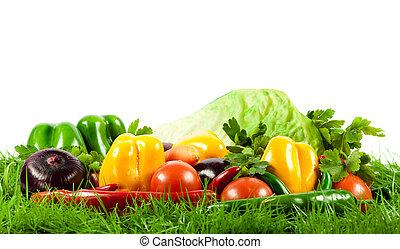 stagionale, organico, vegetables., sano, eating., crudo
