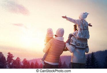 stagione, famiglia, inverno