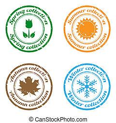 stagione, francobolli