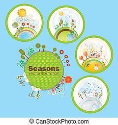 stagioni, icone