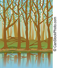 stagioni, quattro, forest-spring