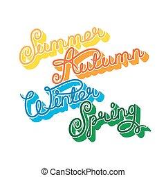stagioni, scritto mano, anno