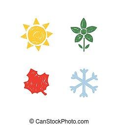 stagioni, year., quattro