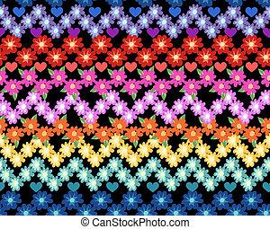 stampa, arcobaleno, poco, fiore