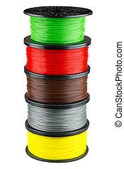 stampa, bobine, filamento, 3d