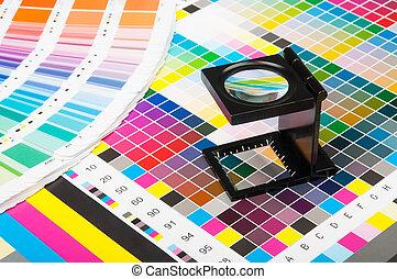 stampa, colorare, amministrazione, produzione