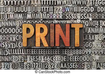 stampa, parola, tipo, letterpress