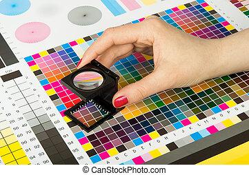stampa, produzione, colore gestione