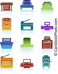 stampante colori, icone