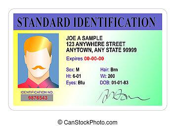 standard, maschio, scheda identificazione