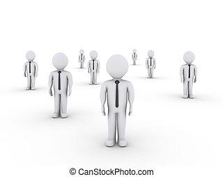 standing, differente, uomini affari, locali
