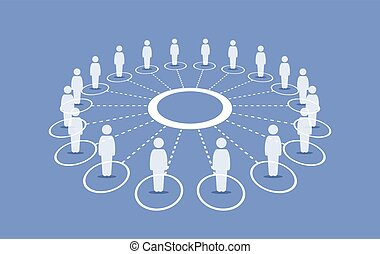 standing, intorno, persone, connettere, ciascuno, cerchio, others.