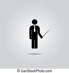 standing, uomo, pointer.
