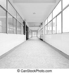 stanza allenamento, corridoio