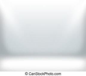 stanza bianca, fondo, mostra