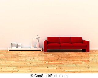 stanza, interno, moderno