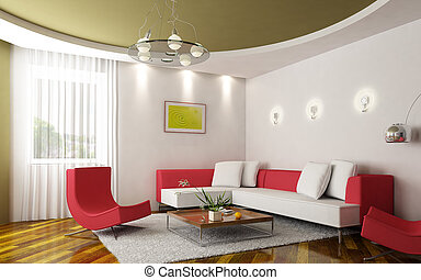 stanza moderna, seduta