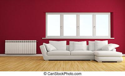 stanza, rosso