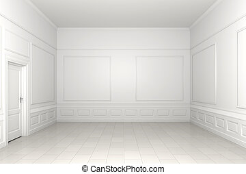 stanza vuota, bianco