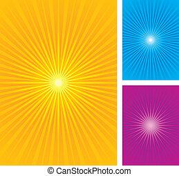 starburst, sunburst, vettore, illustra