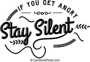 stare, silenzioso
