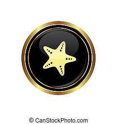 starfish, icona, bottone