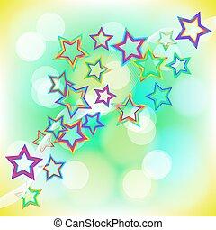 stars., astratto, fondo